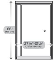 "31"" Top Track Pivoting Shower Door"