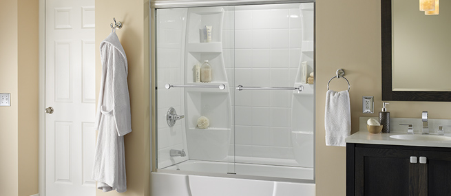 Bathtub Shower Combo - Bath Enclosure Ideas | Delta Shower Doors