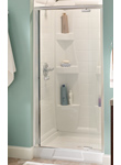Pivoting Glass Shower Doors - Bathroom Design Ideas by Delta