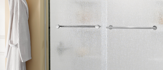 Bathroom Shower Doors Privacy Glass Patterned Etched