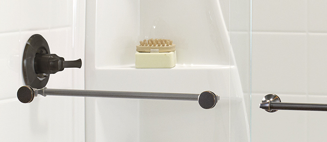 Glass Shower Door Hardware:  Handle, Wheels, Seal, & Rollers