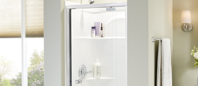 Glass shower doors pivoting sliding tub frameless privacy amp euro bathroom styles delta
