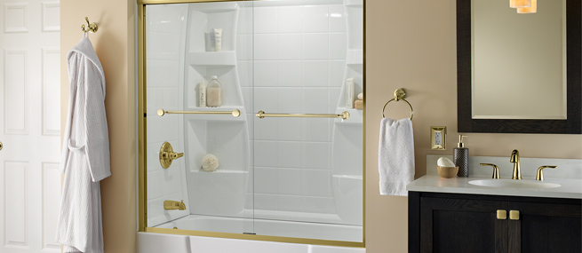 Learn How To Install These Sliding Tub Shower Doors By